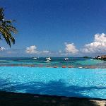 Infinity pool, in a beautiful day