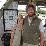 Michelle et Oscar durant le safari sur la rivière Olifants