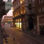 Vista desde la habitación a la Plaza del Duomo