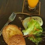 breakfast toasted egg in bread