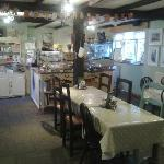 Plenty of space inside the cafe - spoilt for choice with cakes!