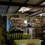 The cosy interior of the cafe.