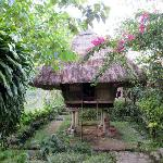 Native Ifugao hut: sleeping room