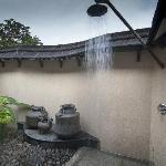 The open air rain shower