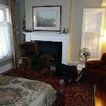 bedroom area of garden view suite