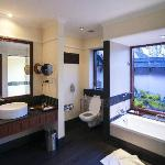 The large and spacious bathroom