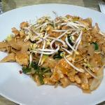 Spicy Drunken Noodles w/chicken (12 EUR). Not that spicy (I have a high tolerance level)