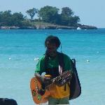 musician on the shores