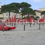Strand direkt am Park vor der Villa Erica