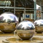 The famous balls, found just outside the Winter Gardens
