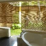 Persianas del baño al patio