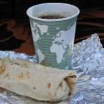 Breakfast Burrito & Maui Oma Coffee