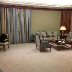 living area in regular suite