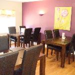 Interiors designed by local artist Cathy McClymont