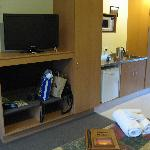 Large tv and room facilities