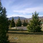 Vista de la cabaña