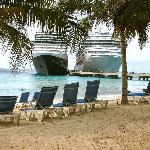 Beach at Cruise terminal
