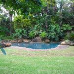 Poolbereich bei den Nebengebäuden