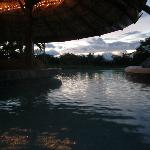 The pool at dusk