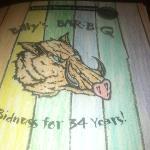 menu at Bolly's Bar-B-Q