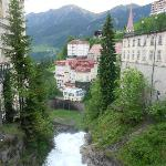 Town of Bad Gastein' exterior of resort on left