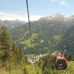 Taking gondola up Stubnerkogel