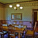 The formal dining room at the Hughes House