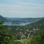 Looking down on Schliersee from road above