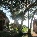 Temple overlooking the Irrawaddy river