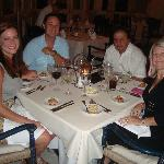 Dining with newlyweds in Emiliano Restaurant..