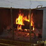 Common area fireplace
