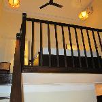 Steep steps to the loft