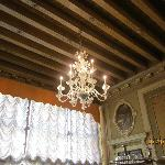 Chandelier in breakfast area