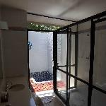 Outdoor bath/shower @ villa 305.