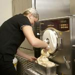Our Gelato being made fresh on our premises