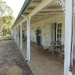 Veranda outside the bedrooms