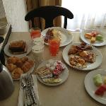 Our room service breakfast the first day. Large portions!
