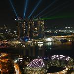 vue de nuit sur le marina sands