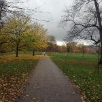 Hyde Park near the hotel perfect for morning walks and evening strolls