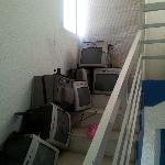 les escaliers servent aussi de depotoir