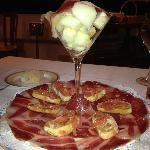 jamon iberico con melon