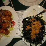 seaweed starter and chilli wings of fire