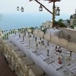 Wedding set up on our terrace