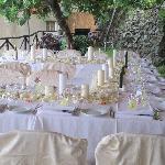 Wedding set up on our garden terrace