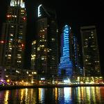 Dubai Marina bathed in light at night time