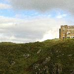 View from King Arthurs Castle to Camelot CAstle Hotel