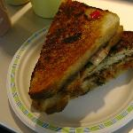 Grilled Kimchee Sandwich at the gourmet station