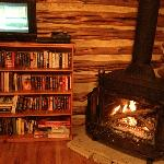 That fireplace heats the whole place...absolutely wonderful