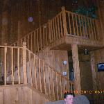 stairs to lead upstairs to bedroom