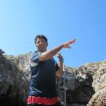 Aboard the panga with our guide, Marcos